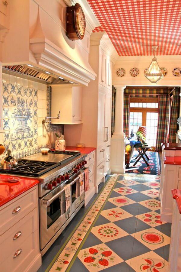 cozinha vintage estampada