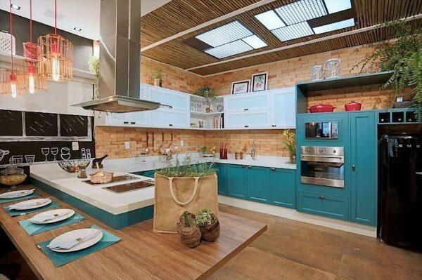 cozinha vintage moderna verde