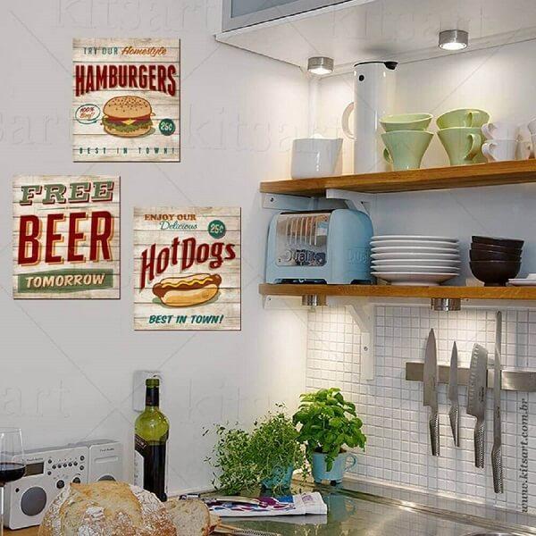 cozinha vintage quadro de cozinha