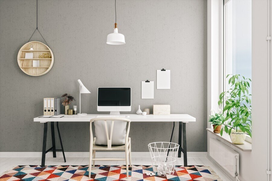 decoração clean para home office Foto GettyImages