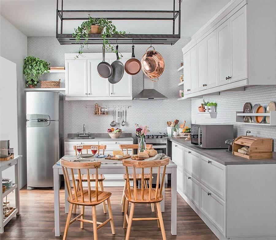 decoração com estilo retrô para cozinha modulada branca Foto eh!DÉCOR