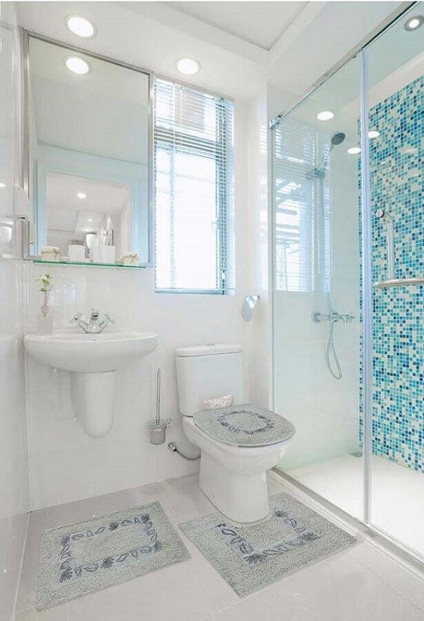 decoração com jogo de banheiro simples Foto Pinterest
