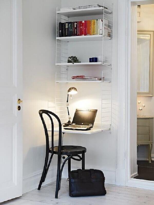 decoração de cantinho de estudo simples e pequeno Foto Homedit