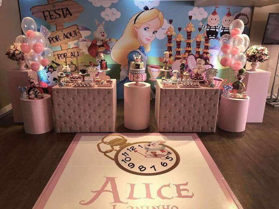 alice party decoration in pink wonderland Photo Hopi Party House