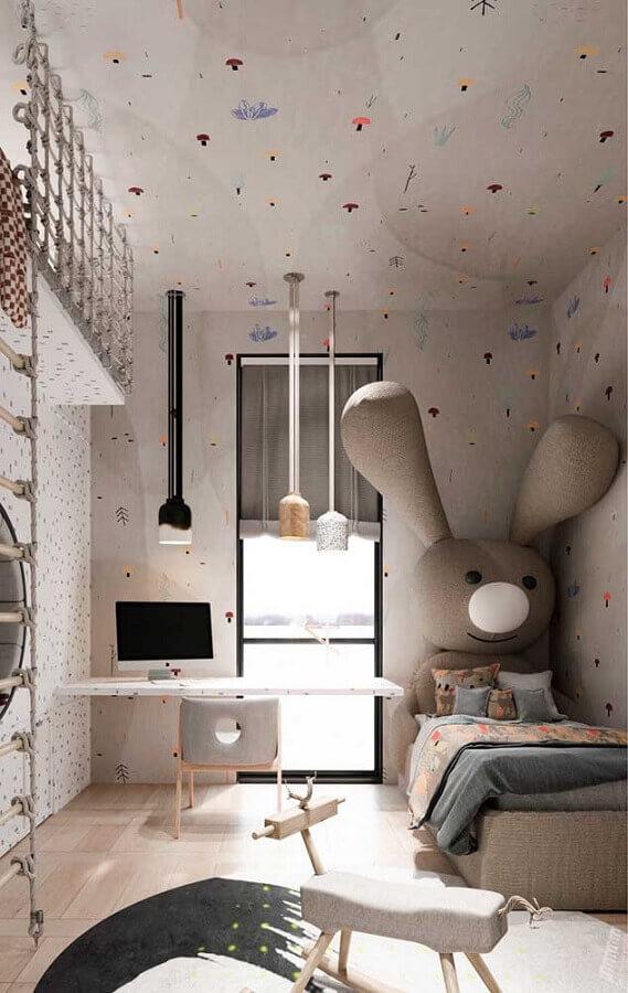 decoração de quarto com cantinho de estudo infantil Foto Assetproject