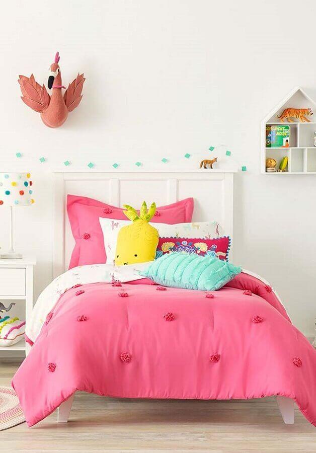 decoração de quarto de menina branco e rosa Foto We Heart It