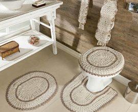 5. O jogo de banheiro de crochê é um dos modelos mais usados - Foto: Dcore Você