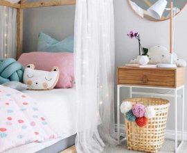 decoração lúdica para quarto de criança menina com cama casinha Foto Home Fashion Trend