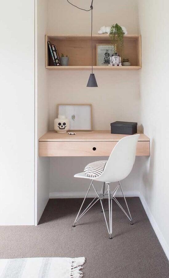 decoração minimalista para cantinho de estudo pequeno Foto Pinterest