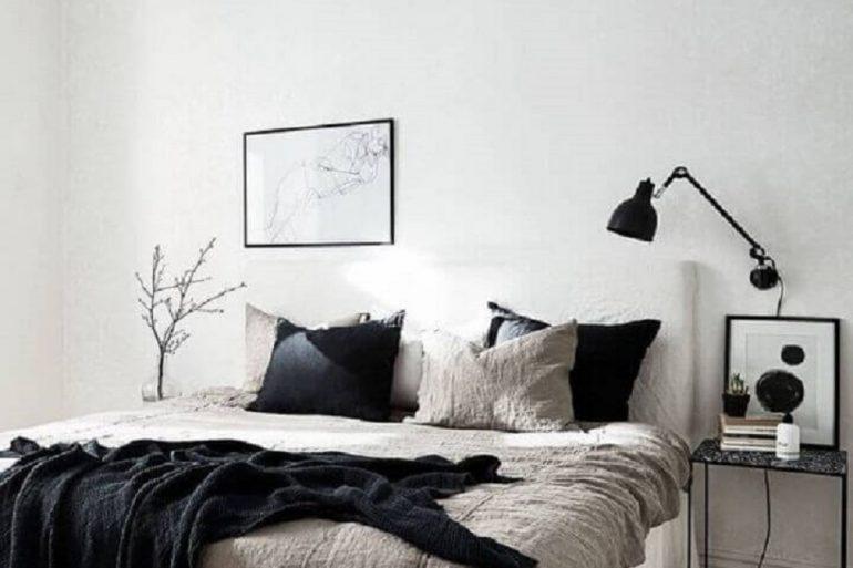 decoração minimalista para quarto preto e branco Foto Coco Lapine Design