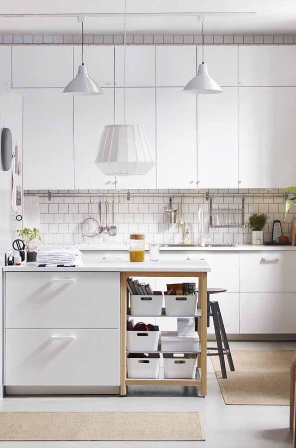 decoração moderna para armário modulado de cozinha Foto Webcomunica