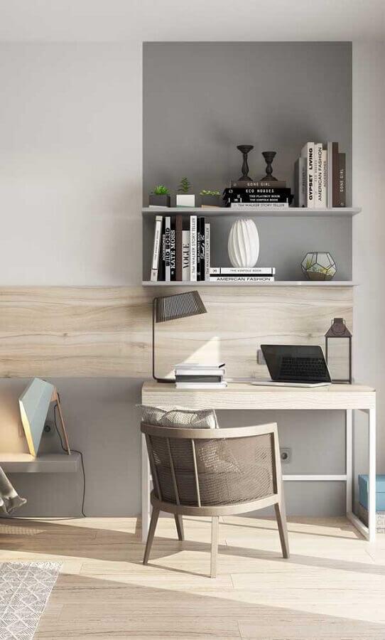 decoração moderna para cantinho de estudo Foto Dcore Você