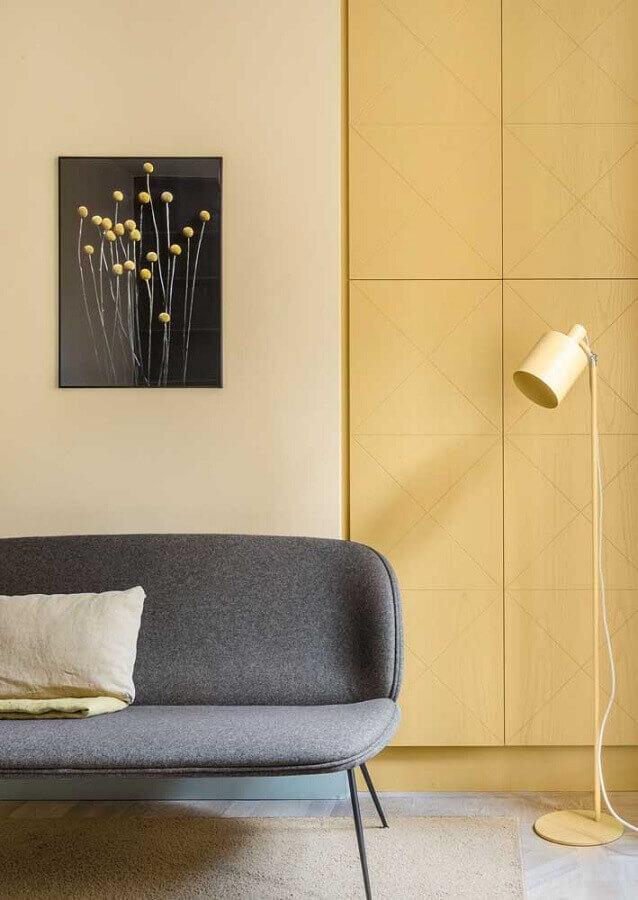 decoração moderna para sala amarela Foto Architecture Art Designs