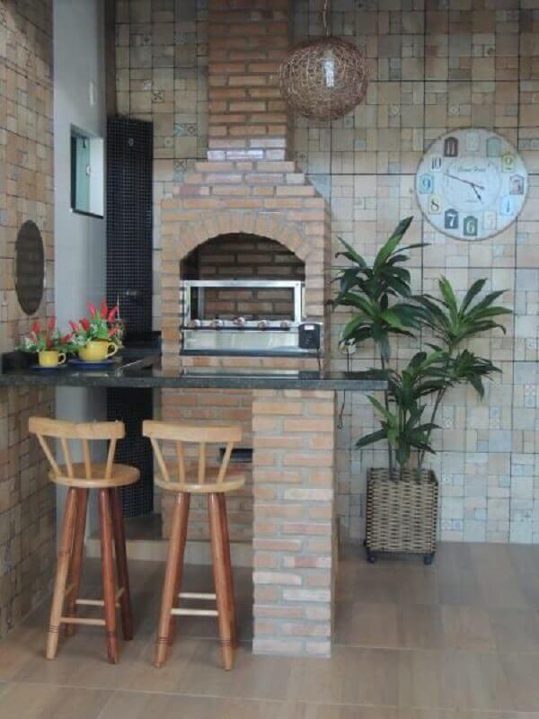 decoração rústica para área gourmet externa simples Foto Dcore Você