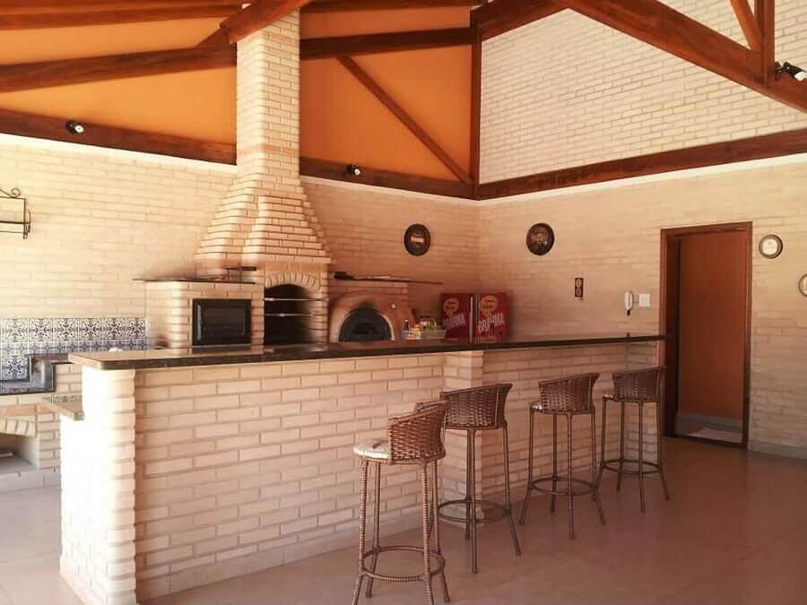 decoração rústica para área gourmet externa simples Foto Pinterest