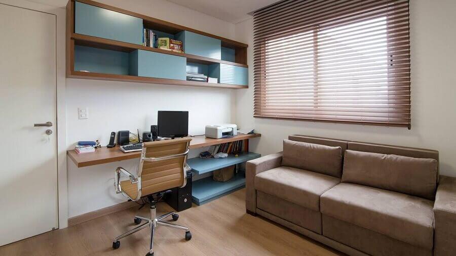 decoração simples para cantinho de estudo na sala Foto Mutabile Arquitetura