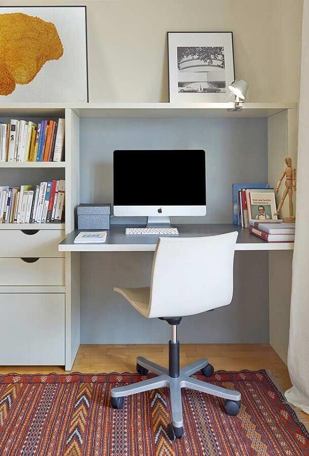 decoração simples para cantinho de estudo pequeno Foto Pinterest