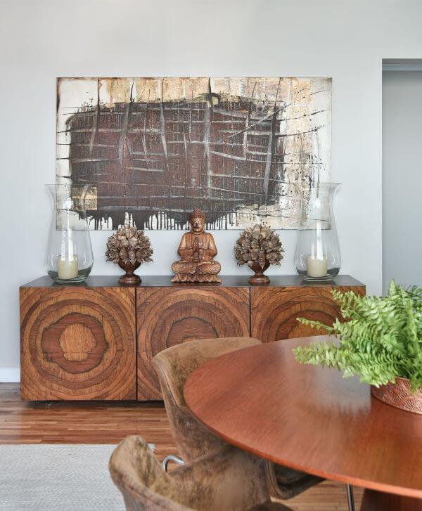 Aparador para sala de jantar de madeira