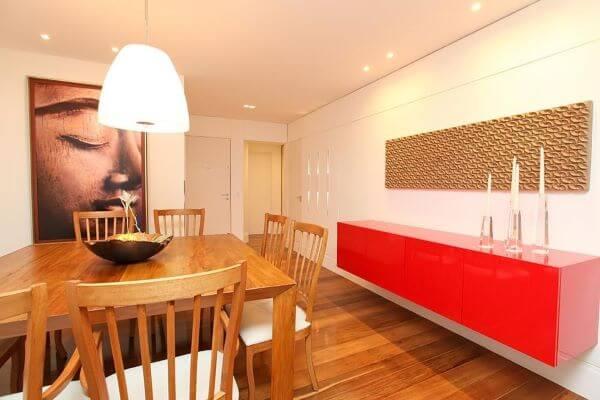 Aparador para sala de jantar vermelho