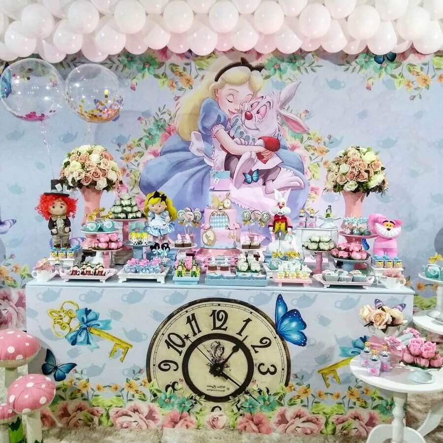 delicate alice party decoration in wonderland Photo Catch My Party