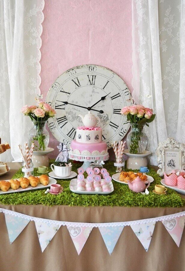 delicate alice party decoration in simple wonderland Photo My Party