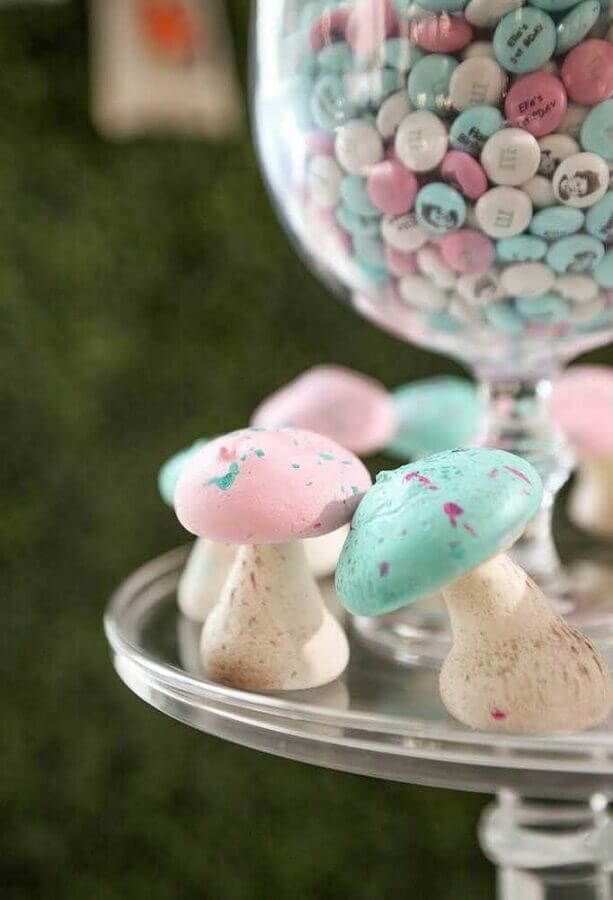 colorful mushroom-shaped sweets for alice party in wonderland Photo Catch My Party