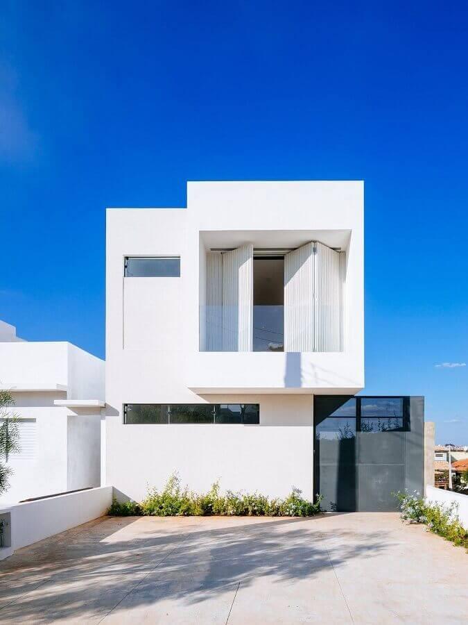 fachada de casas minimalistas dois andares Foto Architizer
