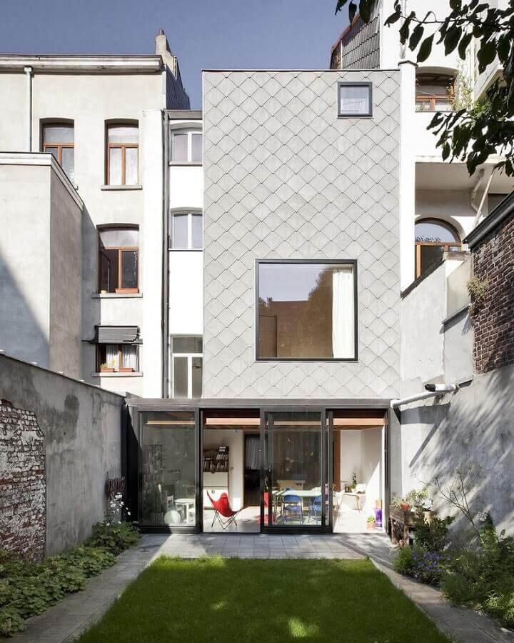 fachada de casas minimalistas modernas Foto Architizer