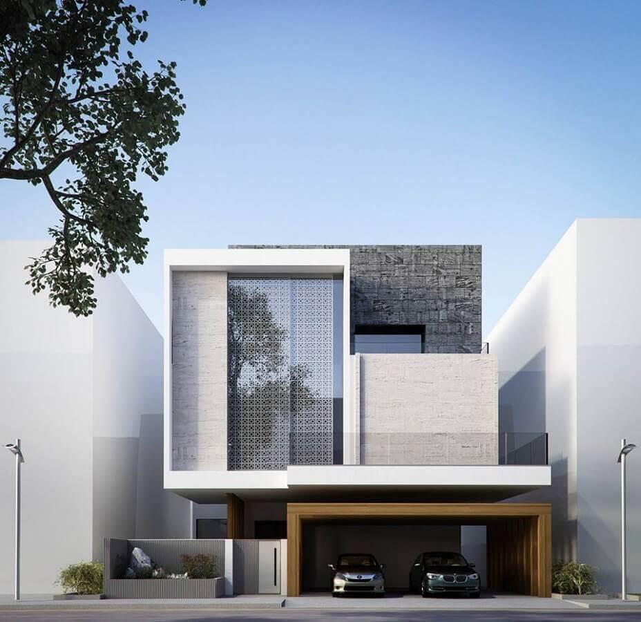 fachada de casas minimalistas modernas Foto Pinterest