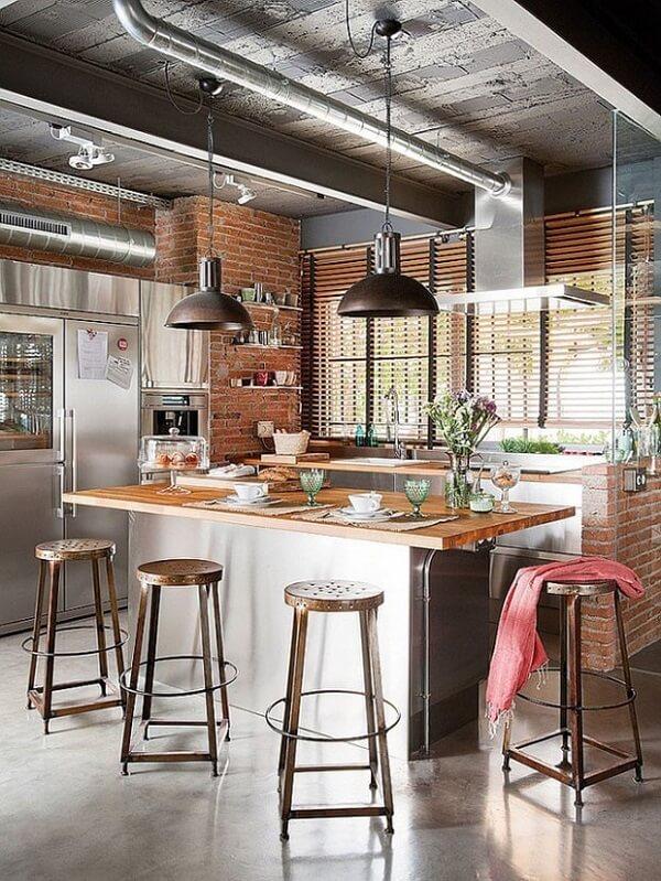 banqueta para cozinha sem encosto de ferro
