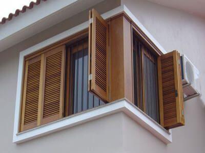 Janelas de madeira para casa moderna