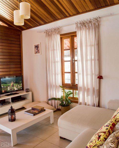 Janelas de madeira para sala de estar