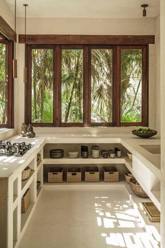 Janelas de madeira com vidro