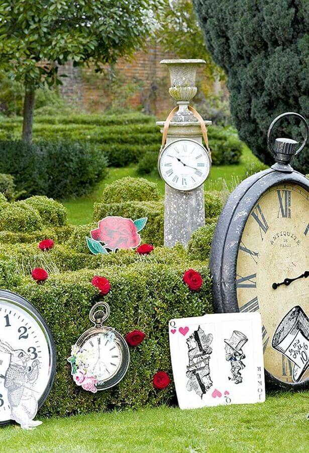 garden decorated for alice party in wonderland Photo Latest Decoration