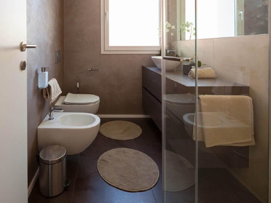 jogo de tapete para banheiro moderno planejado Foto Istock