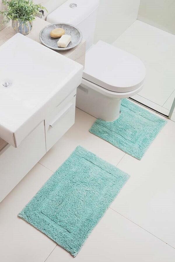 jogo de tapete para banheiro todo branco Foto Home Fashion Trend