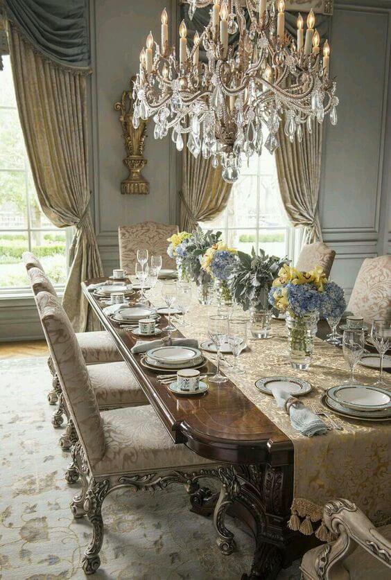 Lustre de cristal para sala luxuosa