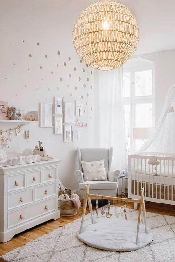 Lustre para quarto de bebê redondo