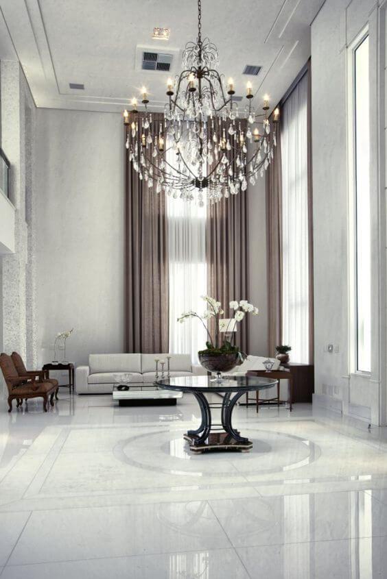 Lustre para sala de estar industrial