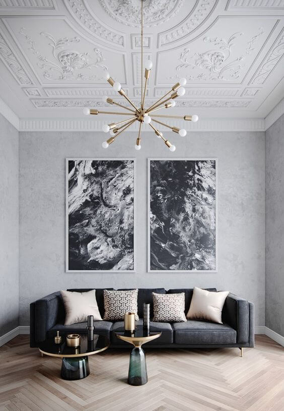 Lustres modernos para sala de estar neutra
