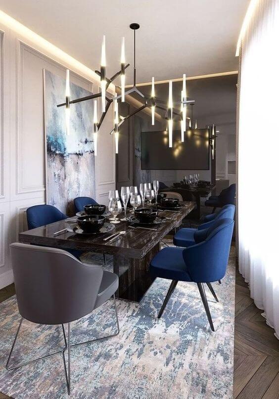 Lustre para sala de jantar moderna e diferente