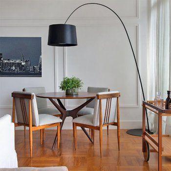 Lustre para sala moderna preta