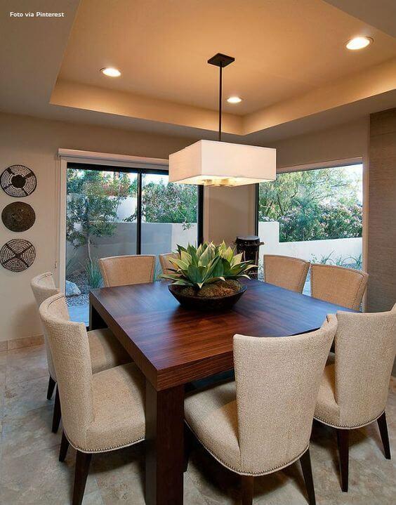 Lustre quadrado para sala de jantar