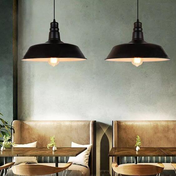 Use o lustre preto para decorar sua casa moderna