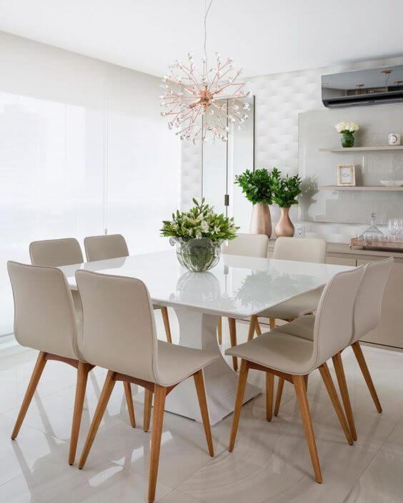 Lustres para sala com mesa quadrada