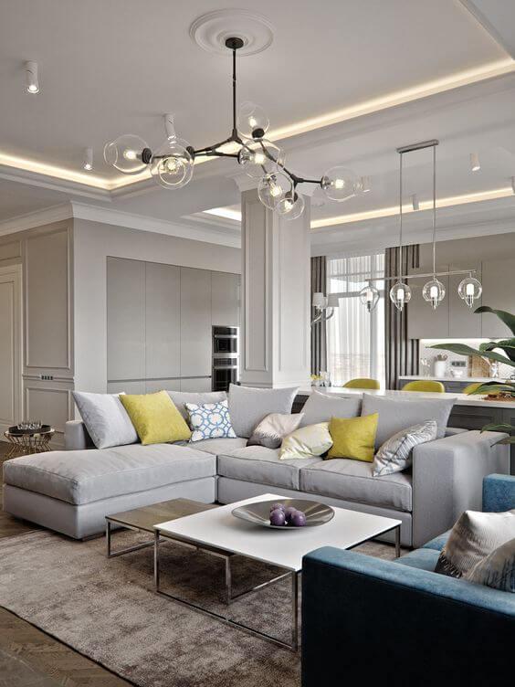 Lustres para sala de estar estilo retrô