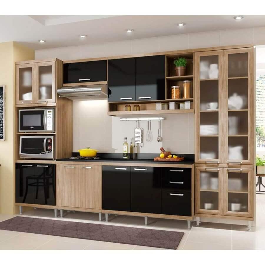 móveis modulados cozinha simples Foto Mobly
