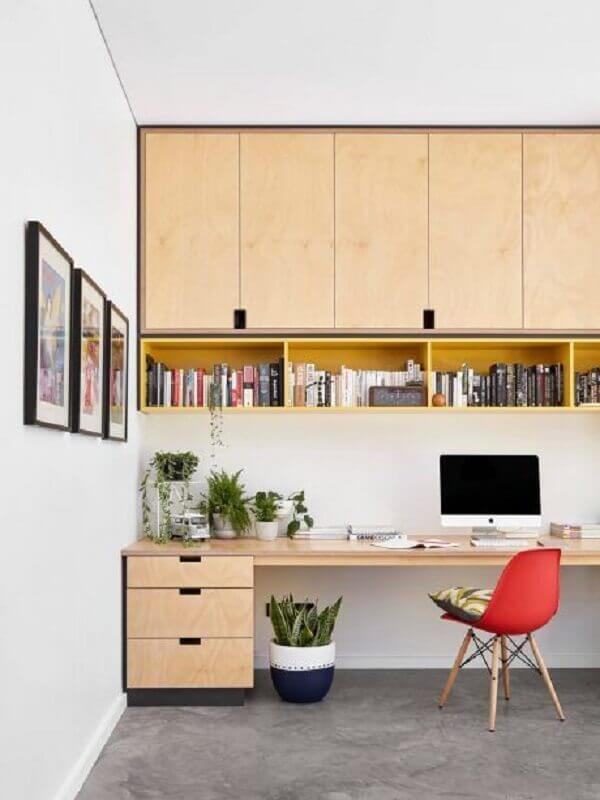 móveis planejados para decoração de escritório em casa Foto HomeAdore