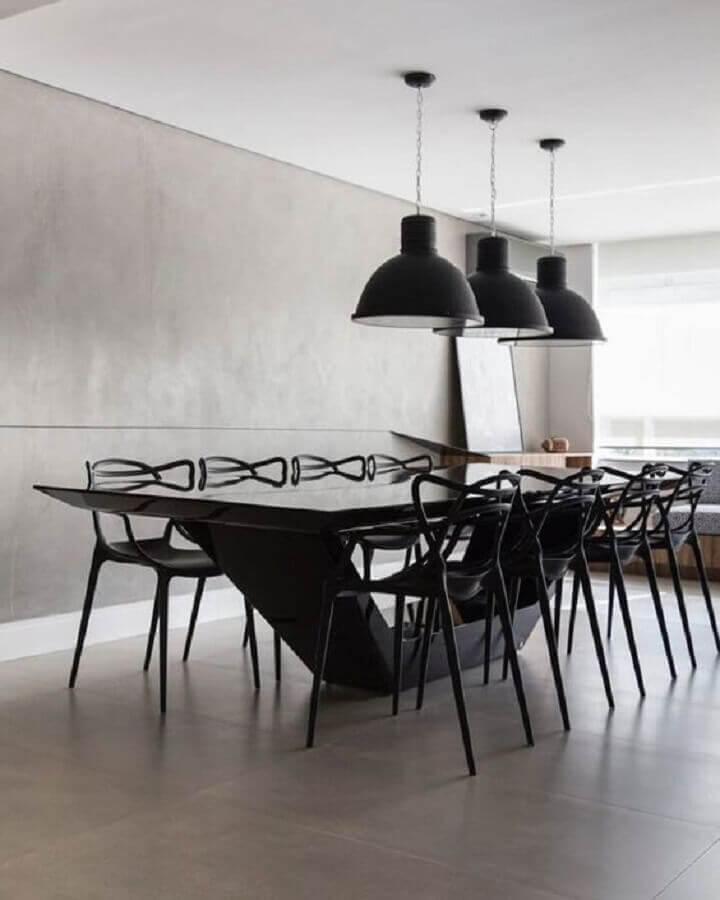 mesa com cadeira preta moderna para sala de jantar minimalista moderna Foto Pinterest