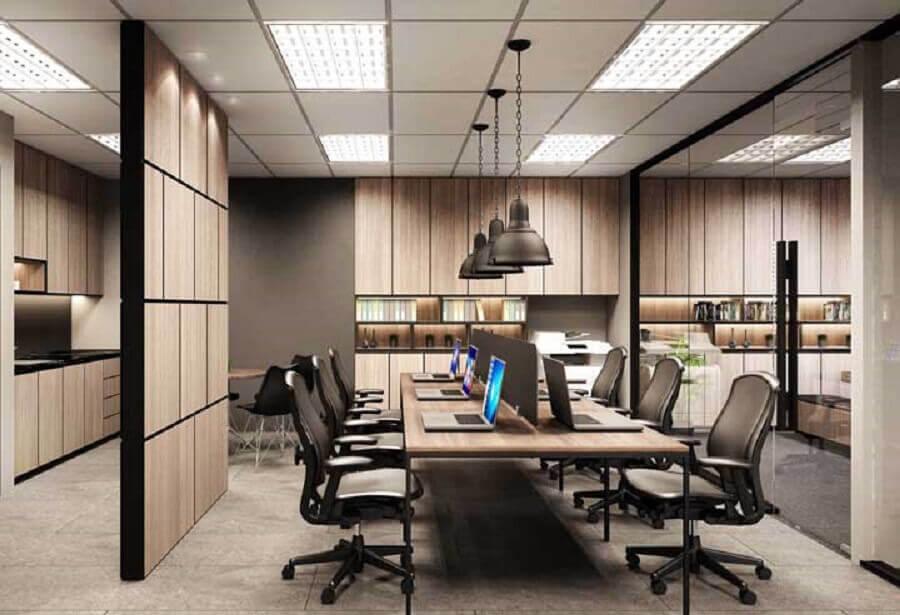 mesa de escritório grande Foto Futurist Architecture